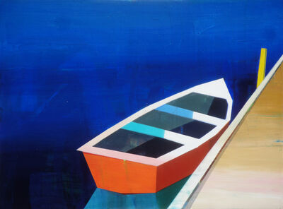 Siddharth Parasnis, 'Red-Orange Boat in The Bay', 2018