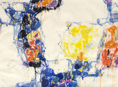 Sam Francis, 'Yellow, Blue & Orange', 1956-1957