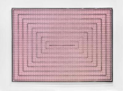 Rachel Lachowicz, 'Concentric Rectangles, Pink', 2011