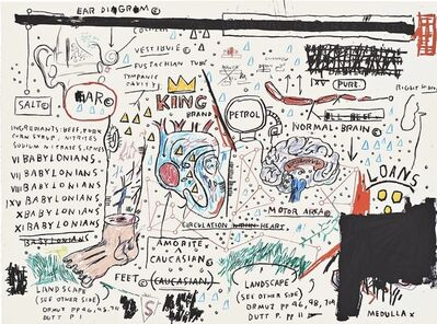 Jean-Michel Basquiat, 'King Brand', 1982-1983/2019