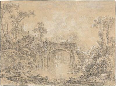 François Boucher, 'Landscape with a Rustic Bridge', ca. 1740