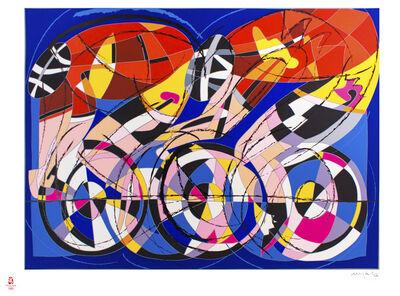 Ugo Nespolo, 'Bikers', 2008