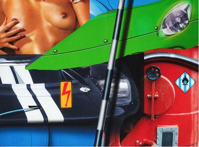 Peter Klasen, 'Green car / Red machine', 2007
