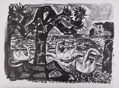 Otto Dix, 'Bodenseelandschaft mit Schwänen', 1965