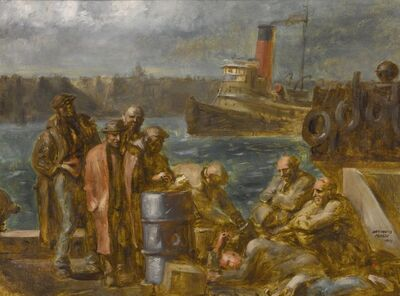 Reginald Marsh, 'On the Hudson', 1941