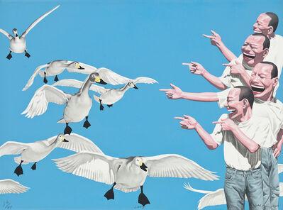 Yue Minjun, 'Big Swans', 2005