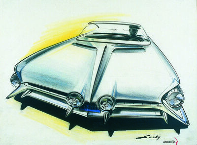 Donald Lasky, 'Pontiac Front End Proposal: Model Year ', 1961