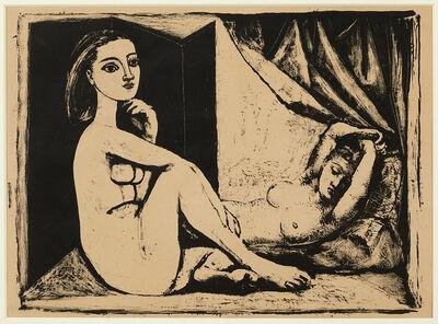 Pablo Picasso, 'Les Deux Femmes nues, State 6, 26th November 1945', 1945