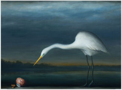 David Kroll, 'Egret and Salamander', 2020