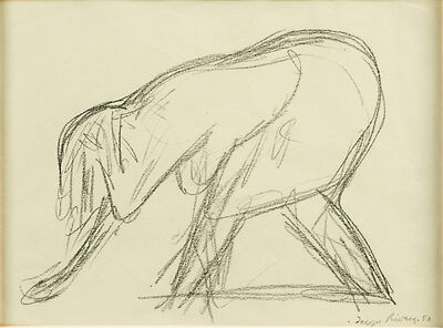 Diego Rivera, 'Untitled (Sketch of a Woman)', 1950