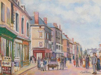 Hugues Claude Pissarro, 'La Rue de Falaise à Trun (Falaise Street in Trun)', 1919