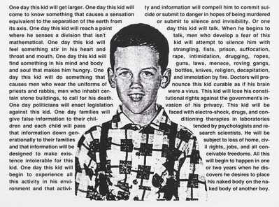 David Wojnarowicz, 'Untitled (One day this kid . . .)', 1990
