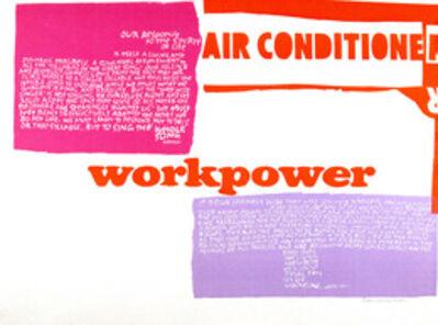 Corita Kent, 'workpower, air conditioner', 1965