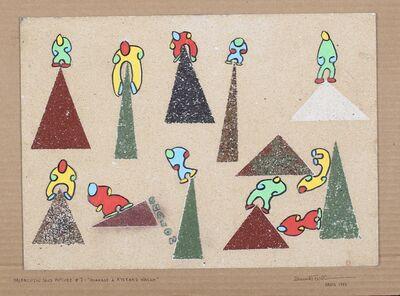 Emmett Williams, '`Haifalutin Sand Picture #7: Hommage à Ryszard Wasko´', 1997