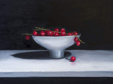 Nicola Currie, 'Redcurrants In A Ceramic Bowl', 2019