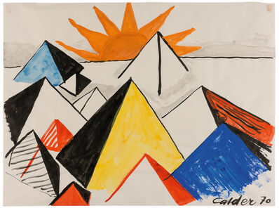 Alexander Calder, 'Sunrise on Pyramids', 1970