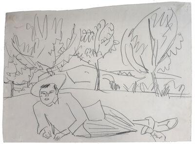 Ernst Ludwig Kirchner, 'Reclining Young Man | Liegender Junger Mann', 1911