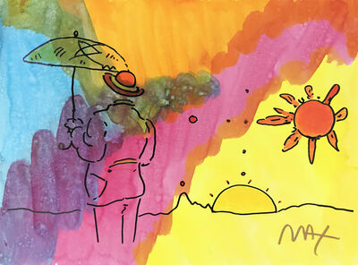 Peter Max, 'UMBRELLA MAN WITH HORIZON', ca. 1995