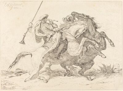 Eugène Delacroix, 'Encounter of the Moorish Horsemen (Rencontre de Cavaliers Maures)', 1834