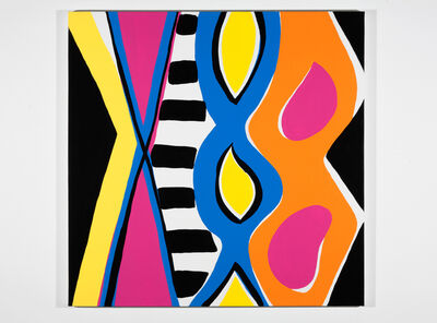 Kim MacConnel, 'Woman with Mirror. (Canvas #19)', 2007