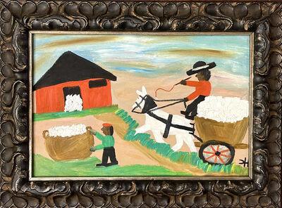 Clementine Hunter, 'Hauling Cotton', 1960-1971