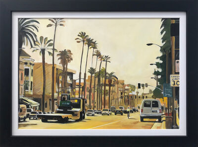 Angela Wakefield, 'Painting of Sunset Boulevard, Los Angeles, California, USA', 2015