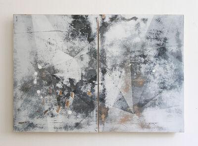 Irena Eden & Stijn Lernout, 'o.T. (Diptych / circle surface sun 2), acrylic on hdf, 60 x 90 cm', 2014