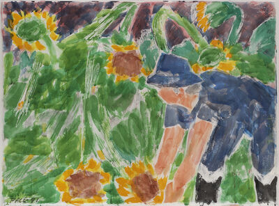 Stephen Pace, 'Sunflowers, After the Storm #2 (91-DSW2)', 1991