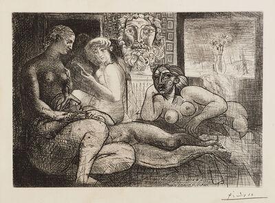 Pablo Picasso, 'Quatre femmes nues et tête sculptée (Four Nude Women and a Carved Head), plate 82 from La Suite Vollard (Bl. 219, Ba. 424)', 1934