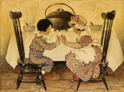 JESSIE WILLCOX SMITH, ' Pease-Porridge Hot, Pease-Porridge Cold', 1912
