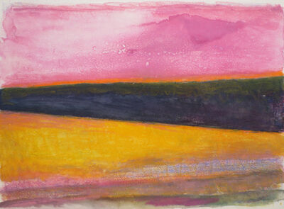 Wolf Kahn, 'Solitary Perspective Sunset ', 1991