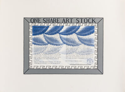 Roger Brown, 'One Share Art Stock', 1989