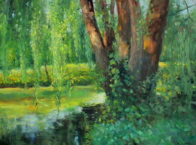 Thomas McNickle, 'WILLOW POND-EVENING SHADOWS', 2020