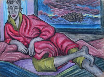 Joseph Plaskett, ' Untitled (figure and landscape) ', 1945