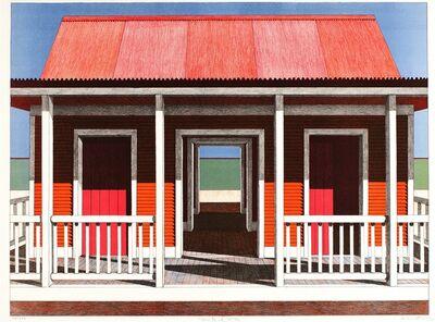 Emilio Sanchez, 'Casita al mar [Little House by the Sea]', Color lithograph