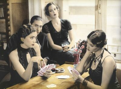 Youssef Nabil, 'Girls playing Cards, Cairo 1993 ', 1993