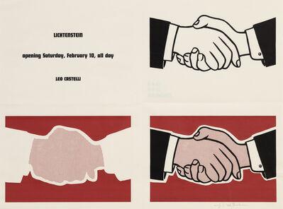 Roy Lichtenstein, 'Castelli Handshake Poster', 1962