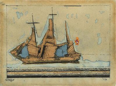 Lyonel Feininger, '(Barque Against Blue Sky)', 1938