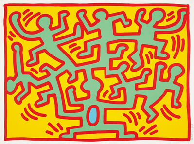 Keith Haring, 'Growing 2', 1988