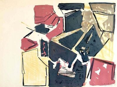 "Igael Tumarkin, 'Israeli Josef Zaritsky Abstract Modernist Lithograph Print ""Composition""', 1950-1959"