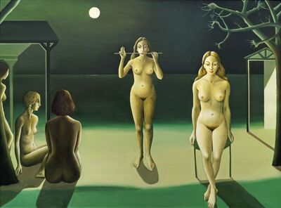 After Paul Delvaux, 'Night Sea'