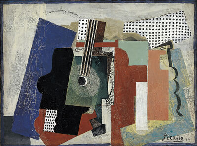 Pablo Picasso, 'Still Life with Door, Guitar and Bottles', 1916