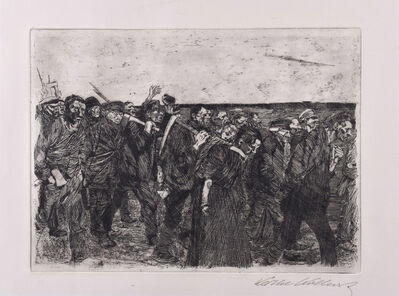 Käthe Kollwitz, 'March of the weavers', ca. 1897