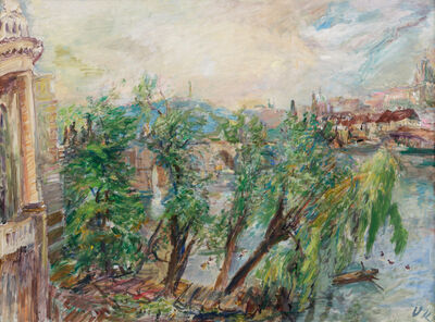 Oskar Kokoschka, 'Prague – View from the Monastery of the Knights of the Cross with a Red Star', 1934
