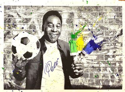 Mr. Brainwash, 'The King Pelé - Portrait', 2016