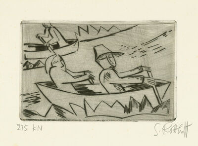 Karl Schmidt-Rottluff, 'Ruderer', 1921