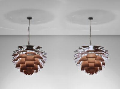 Poul Henningsen, 'Pair of 'Artichoke' ceiling lights, designed for the Langelinie Pavilion restaurant, Copenhagen', circa 1958