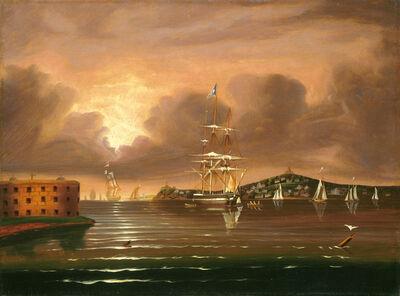 Thomas Chambers, 'Threatening Sky, Bay of New York', mid 19th century