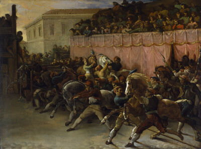 Théodore Géricault, 'Riderless Racers at Rome', 1817