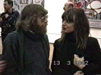 Vadim Zakharov, 'Lev Rubinstein and Sabine Haensgen at the opening of Soviet Art around 1990 (Binazionale) at the Central House of Artists, March 13, 1992', 1992